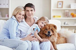 Family w/ dog